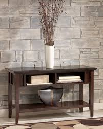 Traditional Dark Brown Norcastle Sofa Table by Logan Sofa Table Console From Ashley T160 4 Coleman Furniture