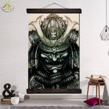 100 Pop Art Home Decor Japan Warrior Modern Wall Print Picture And Poster Frame Hanging Scroll Canvas Painting Cavas Poster