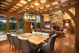 Italian Rustic Furniture Bedroom Dining Room With Open Floor Plan Style