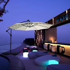 Solar Lighted Patio Umbrella by 10 Foot Offset Solar Led Patio Umbrella Manufacturers And