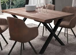 esstisch mit tischplatte aus geöltem massivem eichenholz