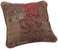 Red Decorative Pillows by Amazon Com Croscill Galleria Square Pillow 18 Inch By 18 Inch