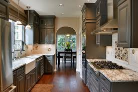 Kitchens With Dark Cabinets And Light Countertops by Dark Granite Light Cabinets Houzz