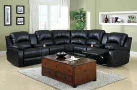 darrin leather reclining sofa with console black rocker recliners
