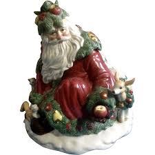 Spode Christmas Tree Bauble Cookie Jar by Fitz U0026 Floyd Woodland Santa Large Cookie Jar Limited Edition 1991
