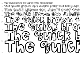 The Bubble Letters font Fancy Cartoon fonts Fontzzz
