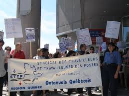bureau de poste a gatineau rallies in ottawa and gatineau showing support for postal workers