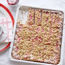 rhabarber crumble kuchen rezept