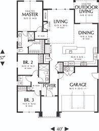 Craftsman Style Floor Plans by Craftsman Style House Plan 3 Beds 2 Baths 1529 Sq Ft Plan 48
