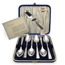 1953 Queen Elizabeth Coronation Spoon Set By Sipelia PreAdored