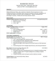 Sample Teachers Resume Elementary Teacher Example Of Pdf Secondary Examples