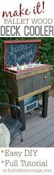 how to build a wood deck cooler project ideas pallet projects