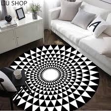 tapis rond chambre liu européenne moderne personnalité géométrique tapis rond salon
