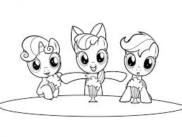 My Little Pony Girls Printable Coloring Pages 65030