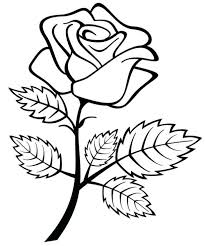 Favorite Roses Coloring Book Pdf Rose Drawing Kids Free Printable Pages Flowers For Adults Medium