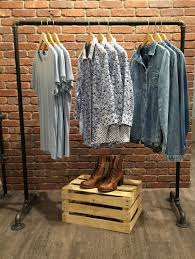 The Bedroom Top Clothes Racks Houzz In Industrial Clothing Rack For Within Portable Display Plan