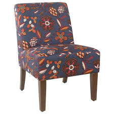 Kinfine Armless Accent Chair In Floral Pattern Navy ... Attractive Small Armchair Slipcover Chair T Cushion 2 Piece Coley White Linen Armless Cisco Brothers Seda With Swivel Essentials Collection And How To Dvd Giveaway Flexsteel Ding Room Side Ca60519 Matter Make Arm Slipcovers For Less Than 30 Howtos Details About Fniture Of America Bord Classic Chairs Set Muse Weathered Pepper Upholstered Parsons 2count Soothing Models With Wing Savile Washed Gray