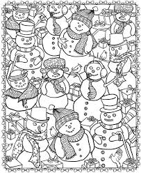 Christmas Snowman Printable Coloring Page
