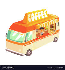 100 Coffee Truck Truck Cafe On Wheels Colorful Royalty Free Vector