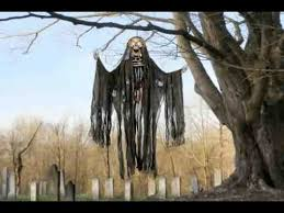 Motion Sensor Halloween Decorations by Motion Activated Hanging Skeleton Halloween Decoration Youtube