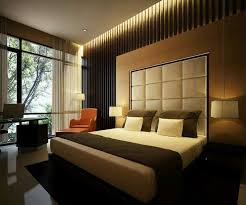 Modern Japanese Style Latest Bedroom Designs With Cream Headboard And Black Rug Decor Idea