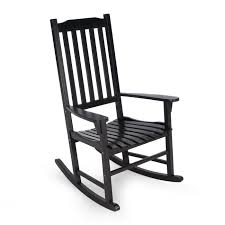 Black Wood Outdoor Rocking Chair IT 130828B The Home Depot Buy ...