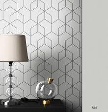 grafiktapete grau grafik modern bauhaus geometrisch sechseck clyve muster