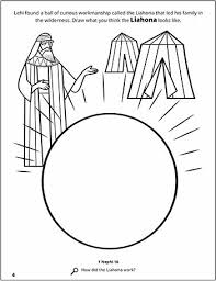 A Page From The Scripture Stories Coloring Book Of Mormon About Lehi And Liahona