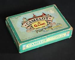 1930 Vintage Paper Cardboard Box Camelot A Game By Parker Brothers Board Castle Knight