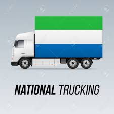 100 National Trucking Symbol Of Delivery Truck With Flag Of Sierra Leone