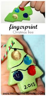 These Fingerprint Christmas Trees From Messy Litttle Monster Would Be A Great Gift For Grandparents Dont You Think
