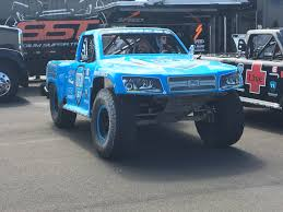 100 Stadium Super Truck OT A Destroys The Sand Barrels Near Pit Road At