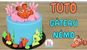 deco gateau en pate a sucre gateau cake design némo tutoriel decoration pate a sucre