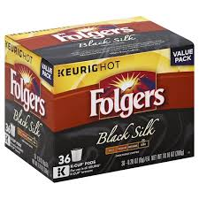 Folgers Coffee Dark Roast Black Silk K Cup Pods Value Pack