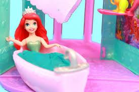 Disney Little Mermaid Bathroom Accessories by Disney Ariel U0027s Flip N Switch Castle Mattel Review Play Doh Bath