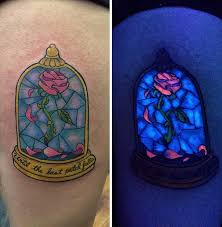 Beauty And The Beast Rose With Some Uv Ink
