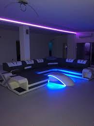 designer sofa mystique mit led beleuchtung usb