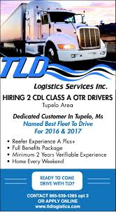 CDL CLASS A OTR DRIVERS , Tld Logistics, Knoxville, TN Cdl Class A Otr Drivers Tld Logistics Knoxville Tn Entrylevel Truck Driving Jobs No Experience Military Veteran Cypress Lines Inc History Of The Trucking Industry In United States Wikipedia Driverscreening Firms Draw Scrutiny Wsj How To Write A Perfect Driver Resume With Examples Senator Ron Johnson On Twitter Great Hear From Wisconsin Cgrulations Todd Wilemon Tupelo Miss Driversalesman And Missippi Archives Drive Celadon Qline Trucking Free Download Local Truck Driving Jobs Houston Tx