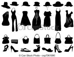 Female Clothing Clothes For Women Vector Clipart