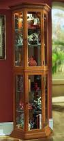 Pulaski Glass Panel Display Cabinet by Best Curio Cabinets For 2017 Full Home Living