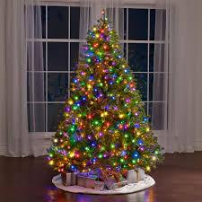 Christmas Trees Prelit Led by The World U0027s Best Prelit Douglas Fir 7 5 U0027 Full Led Hammacher