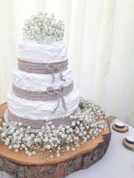 Gives You An Idea Of A Rustic Wedding Cake With Beautiful Babies Breath Burlap And Lace But Also Imagine It Luscious Green Succulents