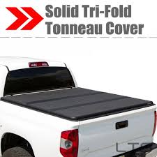 Lock Tri-Fold Hard Solid Tonneau Cover For 2004 F-150 Heritag 6.5 ...
