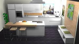 highlight grifflose lackküche mit beleuchteter inselleiste mattlack weiß tresen holzdekor mit elektrogeräten