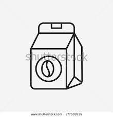 Coffee Bean Bag Line Icon