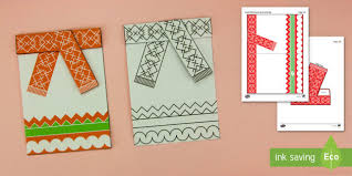 Simple 3D Christmas Card Scarf Paper Craft