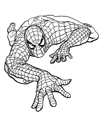 Spider Man Climbing Coloring Pages For Kids Printable Free