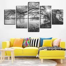 5 panel vintage baum bilder modulare dekoration wohnzimmer wand kunst rahmen leinwand gedruckt günstig im onlineshop joom kaufen