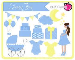 Pink Fox Design NEW Baby Shower Clip Art Sets