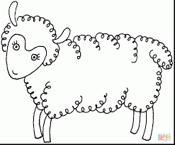 Remarkable Sheep Coloring Page With Lamb And Baby Pages